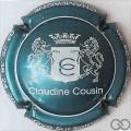 Champagne capsule 9 Turquoise métallisé et blanc