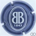 Champagne capsule 38 Bleu et blanc, 32 mm