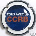 Champagne capsule  Bleu et blanc  CCRB en rouge