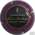 Champagne capsule 46.f Contour violet, centre noir