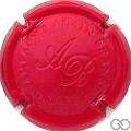 Champagne capsule 8.h Estampée rouge