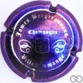 Champagne capsule 5.h Violet métallisé et argent