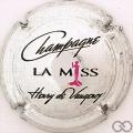 Champagne capsule 21 La Miss, métal pailleté
