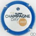 Champagne capsule 5.c 2015, contour bleu et strass