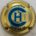 Champagne capsule 14.a ChampHoe 2016 avec strass