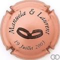Champagne capsule H7305 Rosé et noir