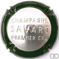 Champagne capsule 45.g Estampée, contour vert foncé