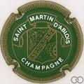 Champagne capsule 11 Vert, striée