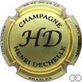 Champagne capsule 7 Or pâle et noir