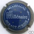 Champagne capsule 3 Bleu et blanc, striée