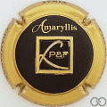 Champagne capsule 23.f Contour or, estampée, Amaryllis